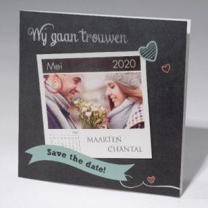 trouwkaart met foto